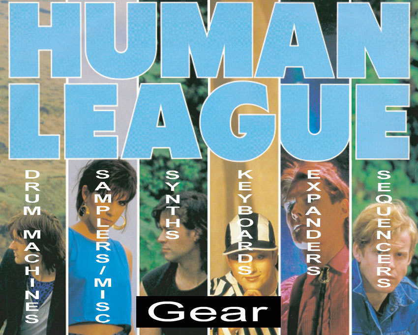 The Human League gear synths drum machine sequencer expander keyboard